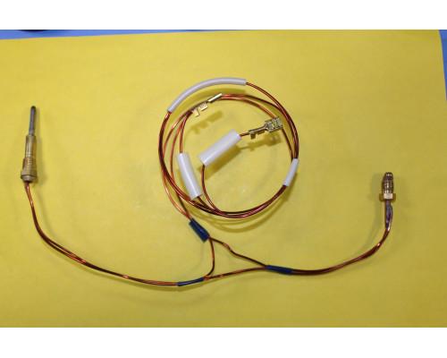 Термопара на колонку Астра (2-х проводная), резьба М8х1, L-350 мм, (провод датчика L-550 мм)