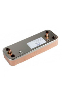 Теплообменник ГВС на 10 пластин Baxi 205*166 в группе  ЗАПЧАСТИ от производителя 12